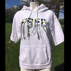 $128 NEW!! FREE PEOPLE short sleeve hoodie